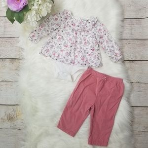Absorba 3-6 Month Baby Girl 2Pc Set